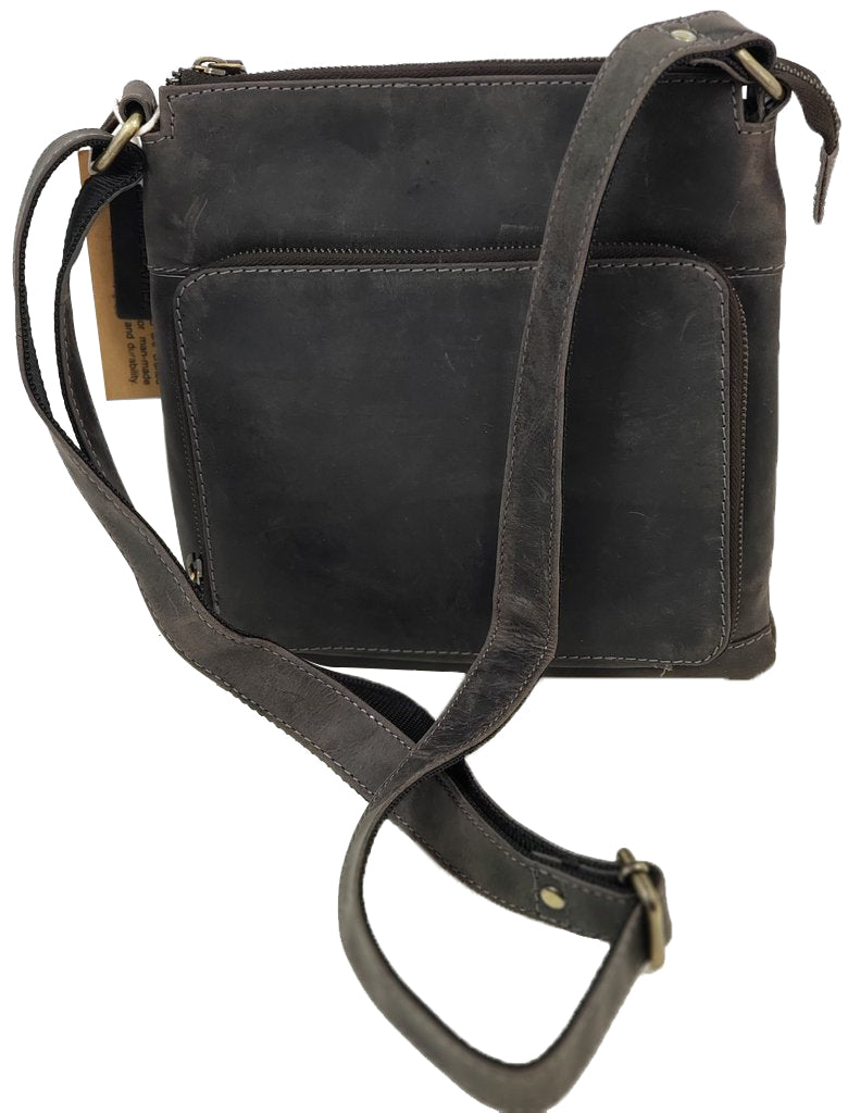 Distressed Leather Crossbody