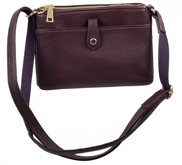 Leather Conceal Carry Crossbody