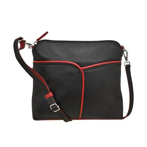 RFID Leather Crossbody