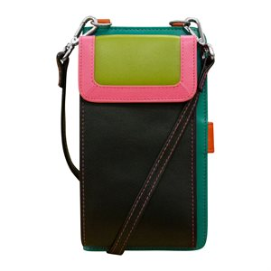 RFID Leather Crossbody/Smart Phone Organizer