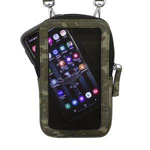 RFID Leather Touch Screen Crossbody