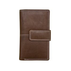 RFID Leather Tri-fold Wallet