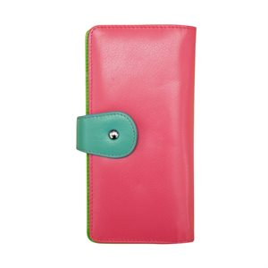 RFID Leather Multi-colored Wallet