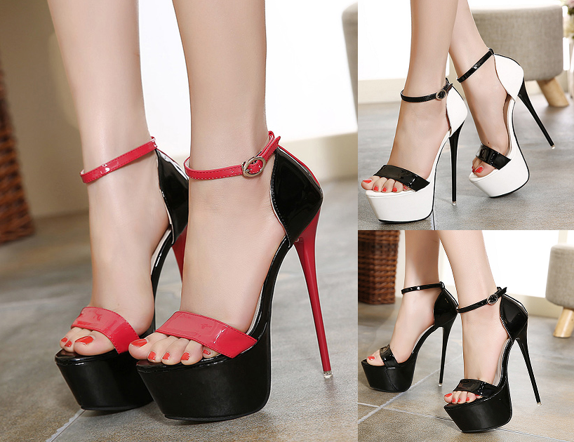 011d317afd9 Womens Lovely Open Toe Ankle Strap Stiletto Heels – ShoeCoo