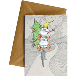 Little Difference 'Elves on a Bike' Christmas Card