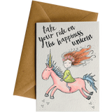 Little Difference 'Happiness Unicorn' Gift Card