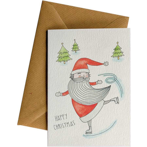 Little Difference 'Santa Skating' Christmas Card
