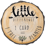 Little Difference 'Skiing Yeti' Gift Card