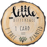 Little Difference 'Santa Skis' Christmas Card