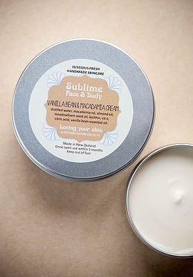 Sublime Vanilla Bean & Macadamia cream