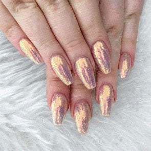 Rose Gold Holographic Nails
