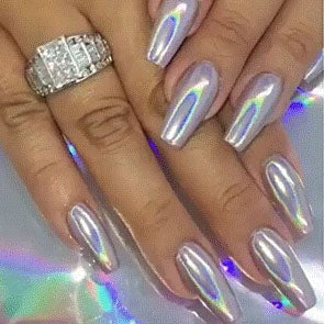 Chrome Holographic Nails