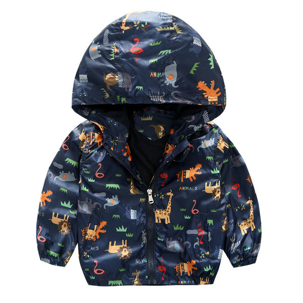 Windbreaker Jacket with Animals