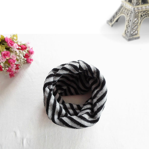 Toddler striped scarf - Black/Grey