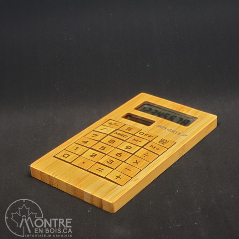 Calculatrice en bois