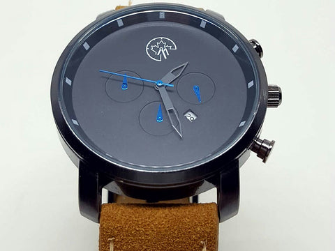 Cronclass Gunmetal /Blue 45mm