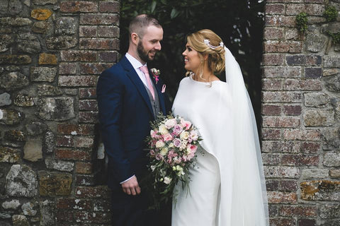 Real Bride Wears Marina B & Hetty Earrings