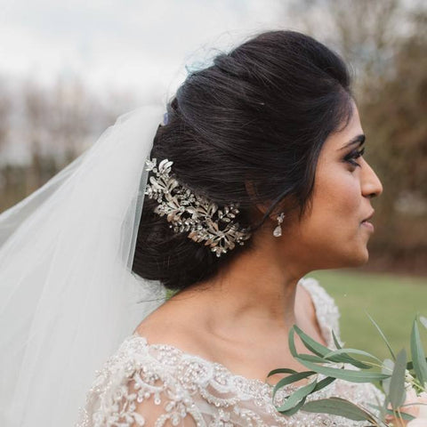 Real bride wears Jenna earrings
