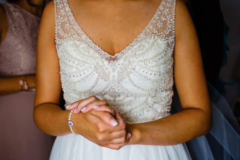 real bride wears alisha bracelet