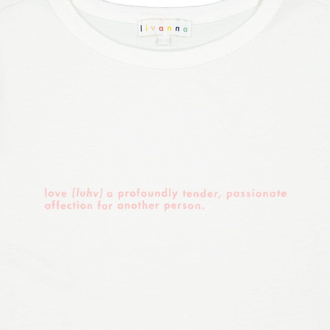 Cotton T-shirt LOVE Print