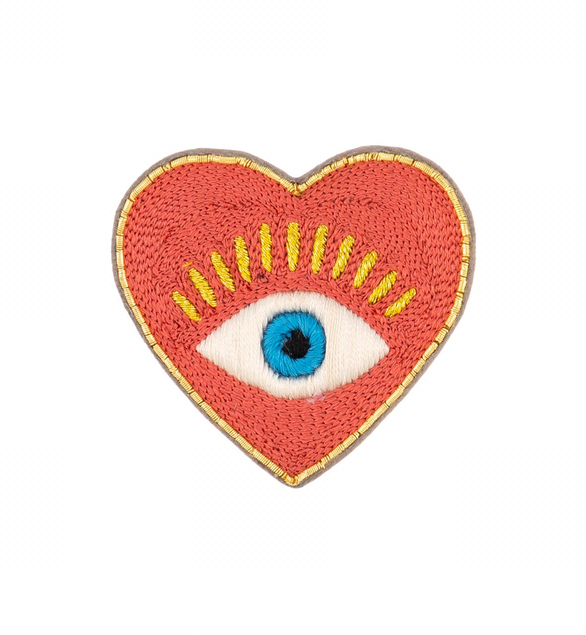 Brooch Heart Eye