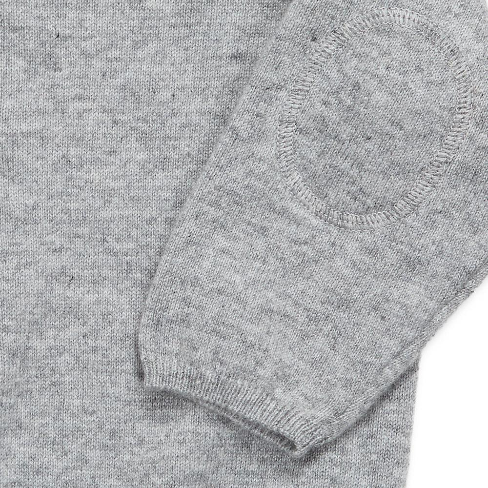 Crew neck pullover with 3 button neck