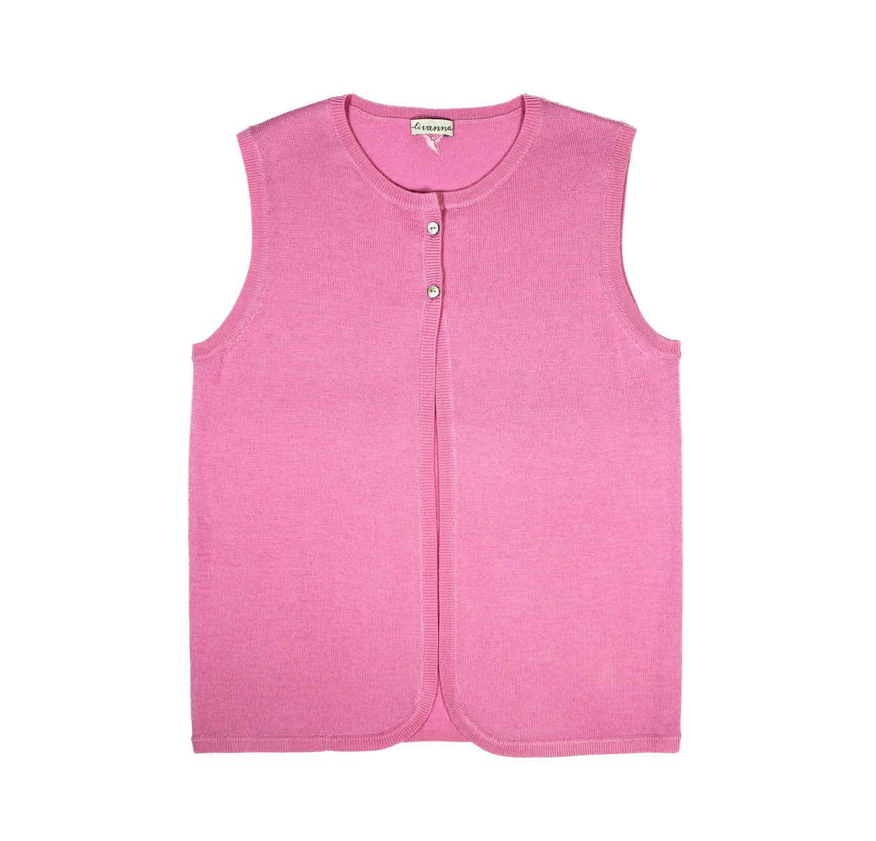 Two Buttons Girl's Vest