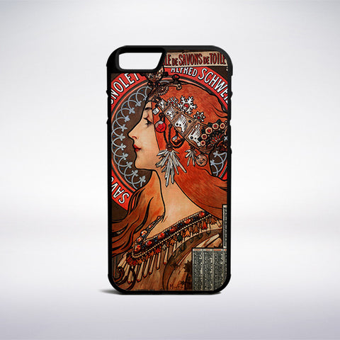 Alphonse Mucha - Soap Factory Of Bagnolet Phone Case | Muse Phone Cases