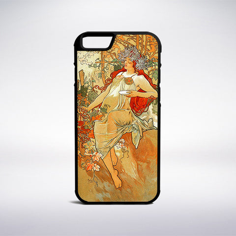 Alphonse Mucha - Autumn Phone Case | Muse Phone Cases