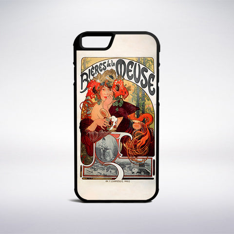 Alphonse Mucha - Beer Of The Meuse Phone Case | Muse Phone Cases