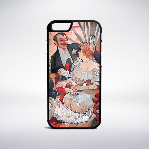 Alphonse Mucha - Biscuits Champagne Lefevre Utile Phone Case | Muse Phone Cases