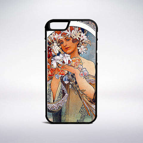 Alphonse Mucha - Flower Phone Case | Muse Phone Cases