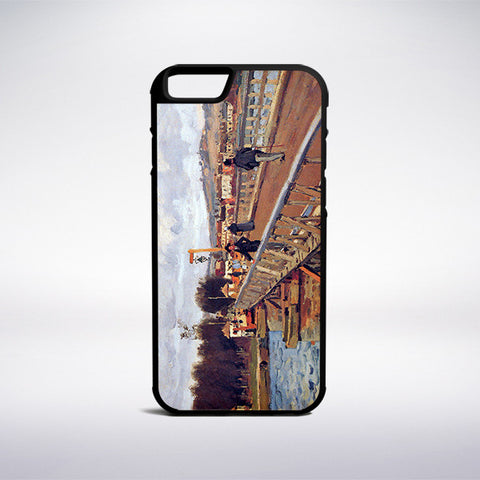 Alfred Sisley - Footbridge At Argenteuil Phone Case | Muse Phone Cases