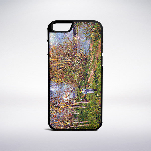 Alfred Sisley - Small Meadows In Spring Phone Case | Muse Phone Cases