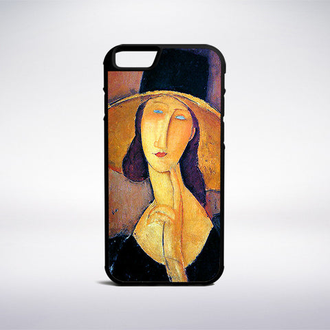 Amedeo Modigliani - Jeanne Hebuterne In A Large Hat Phone Case | Muse Phone Cases