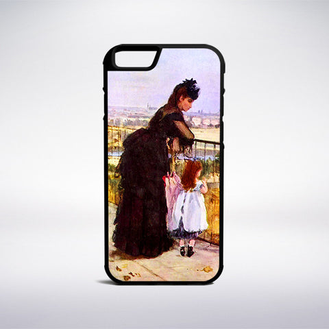 Berthe Morisot - Woman And Child On A Balcony Phone Case | Muse Phone Cases