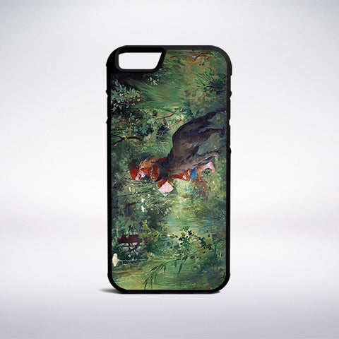 Carl Larsson - Little Red Riding Hood And The Wolf Phone Case | Muse Phone Cases