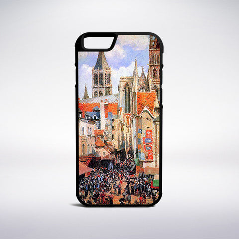 Camille Pissarro - The Old Market At Rouen Phone Case | Muse Phone Cases