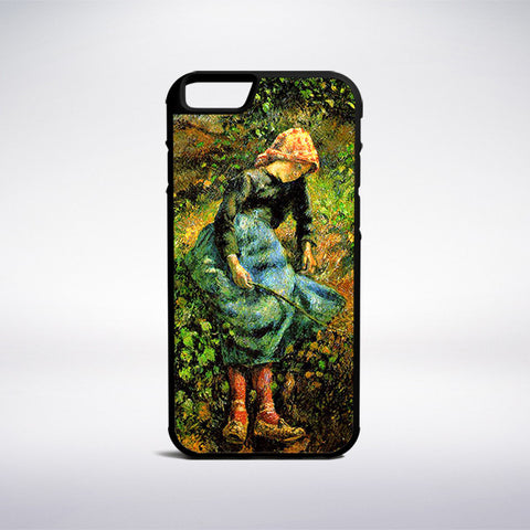 Camille Pissarro - Girl With A Stick Phone Case | Muse Phone Cases