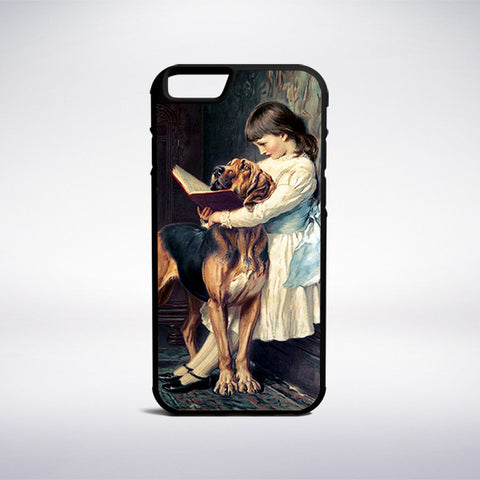 Charles Burton Barber - Girl Reading A Book Painting Phone Case | Muse Phone Cases