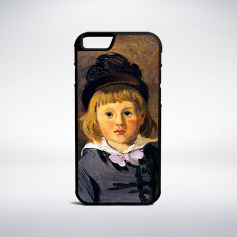Claude Monet - Jean Monet Wearing A Hat With A Pompom Phone Case | Muse Phone Cases