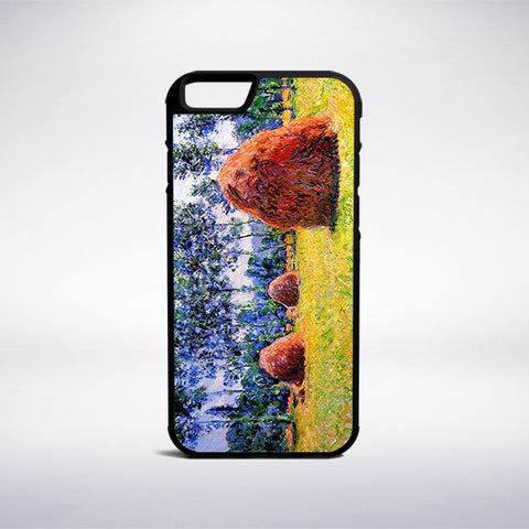 Claude Monet - Haystacks At Giverny Phone Case | Muse Phone Cases