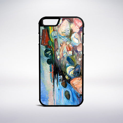 Edvard Munch - Shore With Red House Phone Case | Muse Phone Cases