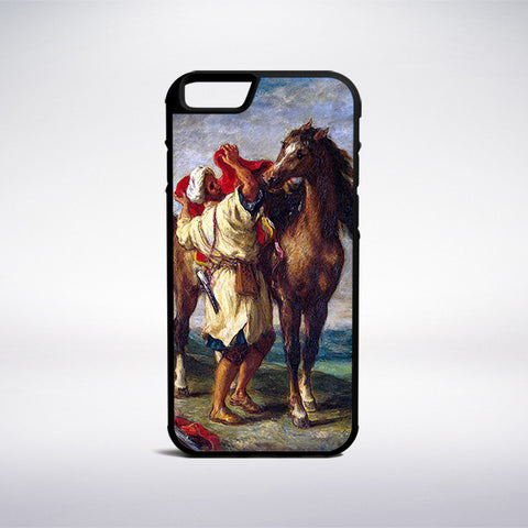 Eugene Delacroix - Moroccan Saddles His Horse Phone Case - Muse Phone Cases