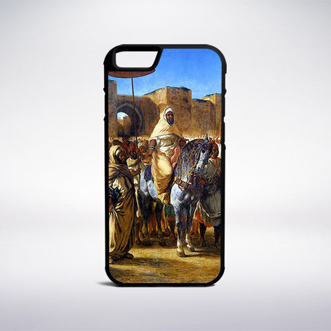 Eugene Delacroix - The Sultan Of Morocco Phone Case - Muse Phone Cases