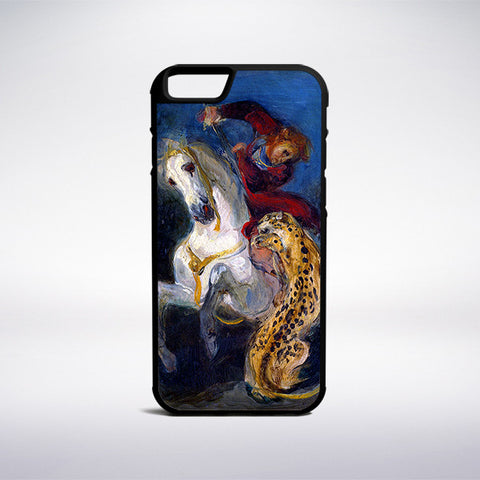 Eugene Delacroix - Rider Attacked By A Jaguar Phone Case - Muse Phone Cases