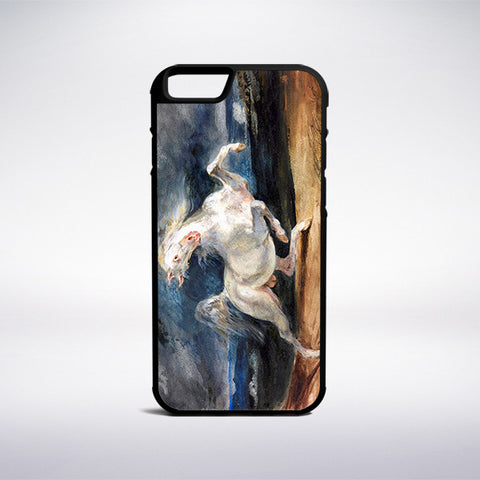 Eugene Delacroix - Horse Frightened By Lightning Phone Case - Muse Phone Cases