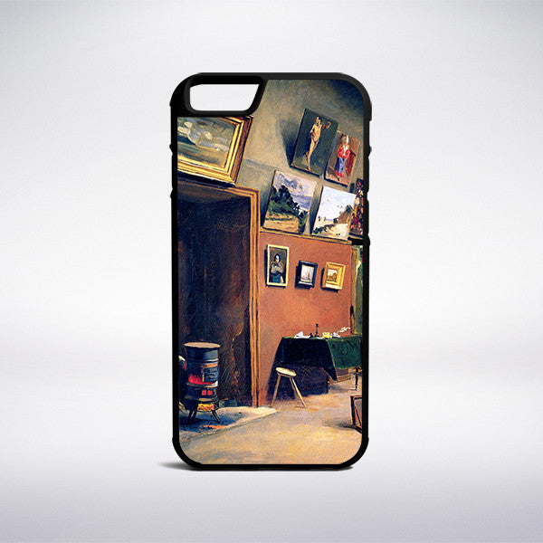 Frederic Bazille - Studio In The Rue De Furstenberg Phone Case - Muse Phone Cases