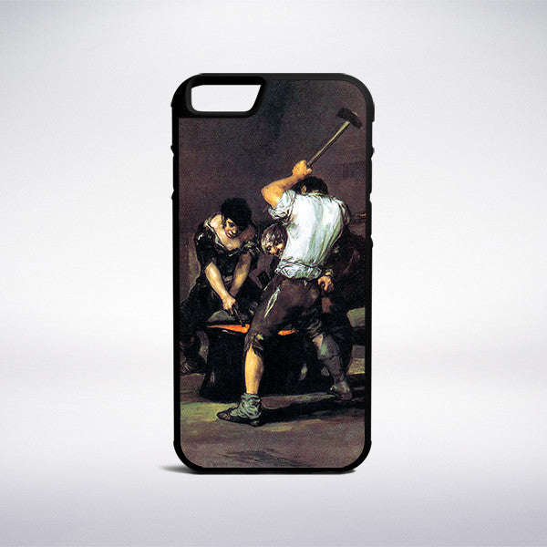 Francisco Goya - The Forge Phone Case - Muse Phone Cases