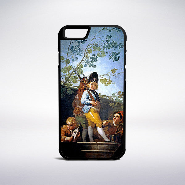 Francisco Goya - Boys Playing Soldiers Phone Case - Muse Phone Cases